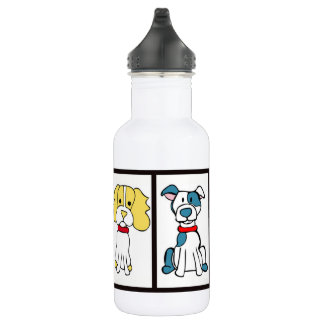 Dog Drawing 532 Ml Water Bottle
