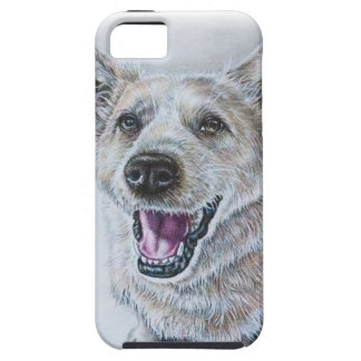 Dog Drawing Design of Sitting Happy Dog iPhone 5 Cover
