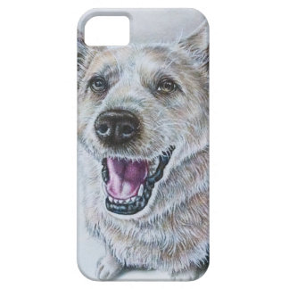 Dog Drawing Design of Sitting Happy Dog iPhone 5 Covers