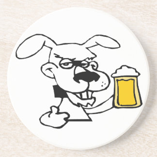 Dog Drinking Beer Drink Coasters
