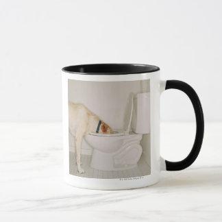 Dog Drinking out of Toilet Mug