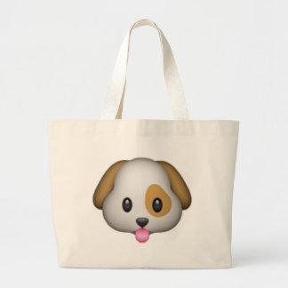Dog - Emoji Large Tote Bag