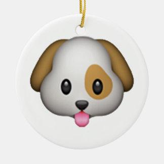 Dog - Emoji Round Ceramic Decoration
