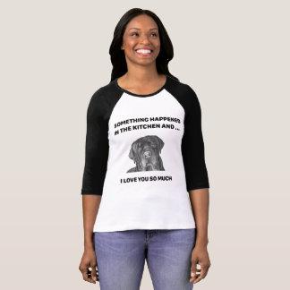Dog Face - Labrador Something Happened T-Shirt