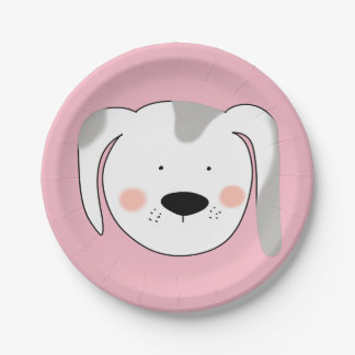 Dog Face Paper Plate