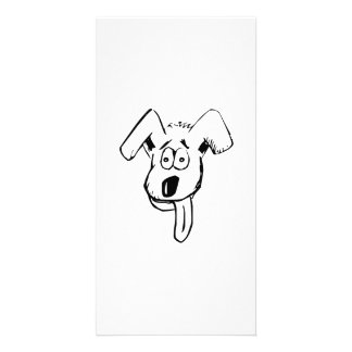 Dog Face with Tongue Personalized Photo Card
