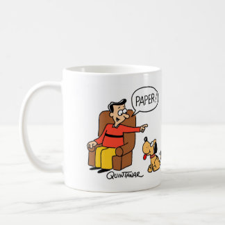 Dog Fetch Paper Kitchen Coffee Mug