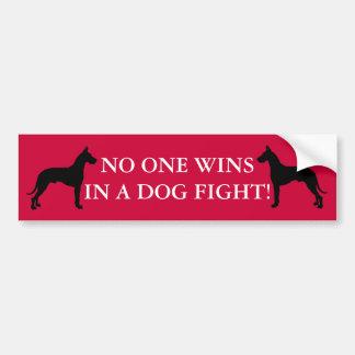 Dog Fight Bumper Sticker