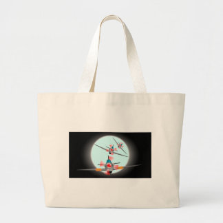 Dog Fight Large Tote Bag