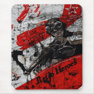 Dog Fight Mouse Pad