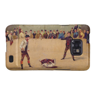 Dog Fighting (oil on paper) Galaxy S2 Cover