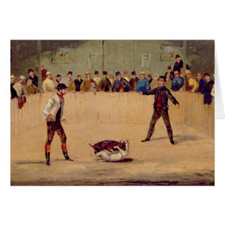 Dog Fighting (oil on paper) Greeting Card