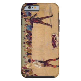 Dog Fighting oil on paper iPhone 6 Case