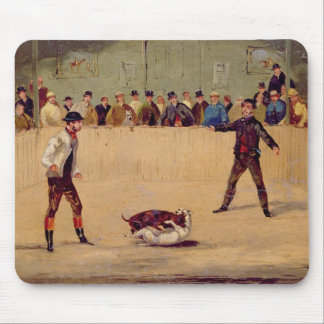 Dog Fighting (oil on paper) Mouse Pad