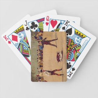 Dog Fighting (oil on paper) Bicycle Playing Cards