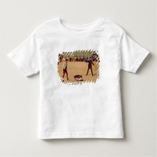 Dog Fighting (oil on paper) Toddler T-Shirt