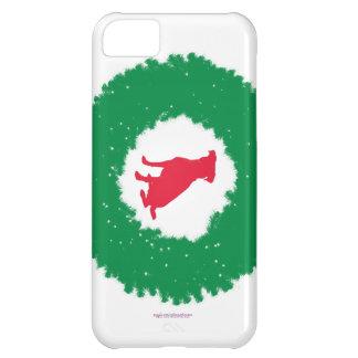 Dog Floppy Ears Christmas Wreath - Holiday Dog iPhone 5C Case