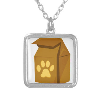 Dog Food Square Pendant Necklace