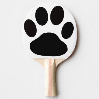 dog foot print ping pong paddle