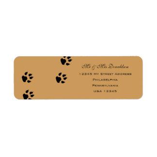 Dog Foot Prints Address Labels