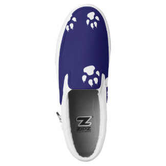Dog Footprints Blue Printed Shoes