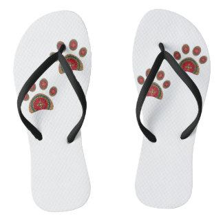 Dog footprints thongs