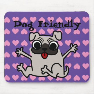 Dog friendly awesome heart DAP Mouse Pad