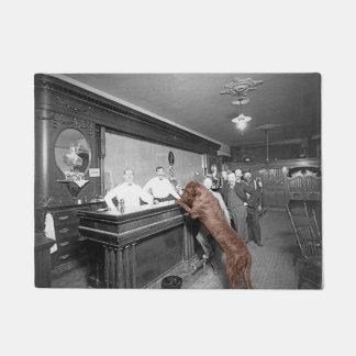 Dog Friendly Saloon Tavern Bar 1900 Photograph Doormat