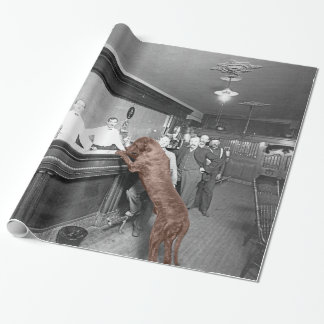 Dog Friendly Saloon Tavern Bar 1900 Photograph Wrapping Paper