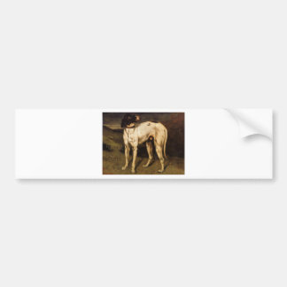 Dog from Ornans by Gustave Courbet Bumper Sticker