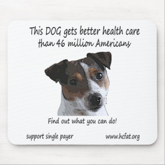 Dog gets better health care mouse pad