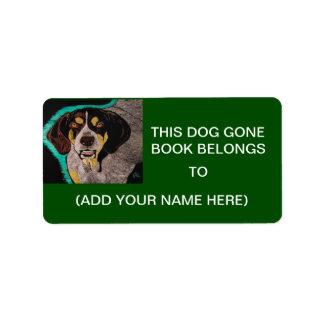 DOG GONE BOOK LABELS
