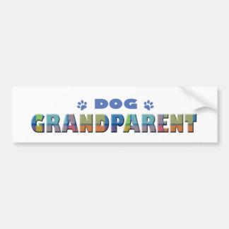 dog grandparent car bumper sticker