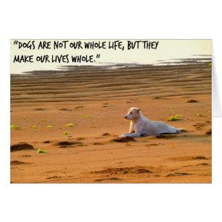 Dog greeting card, pet loss card, pet bereavement card