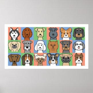 Dog Grid Print