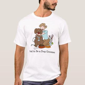 Dog Groomer Cartoon T-Shirt