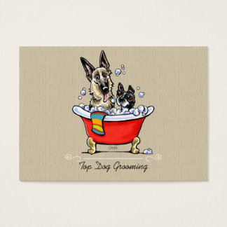 Dog Groomer Fancy Claw Foot Tub Organic Business Card