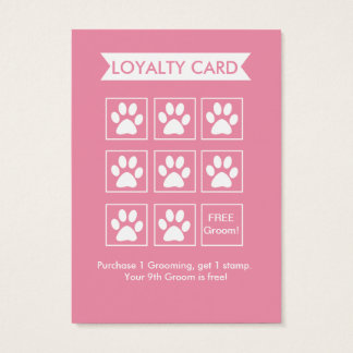 Dog Groomer Loyalty Card - Personalizable