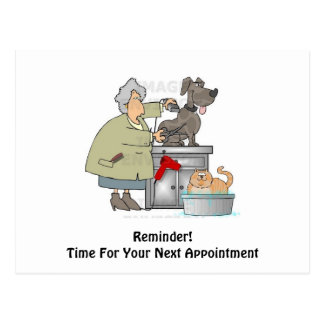 Dog Groomer Next Appointment Postcard
