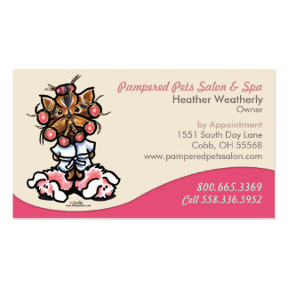 Dog Groomer Pet Spa Business Yorkie Pack Of Standard Business Cards