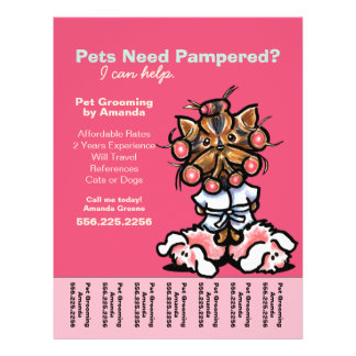 Dog Groomer Pet Spa Yorkie Curlers Tear Sheet