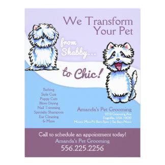 Dog Groomer Shabby Chic Westie Promotional 21.5 Cm X 28 Cm Flyer