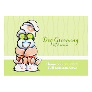 Dog Groomer Spa Robed Shih Tzu Cucumber Pack Of Chubby Business Cards