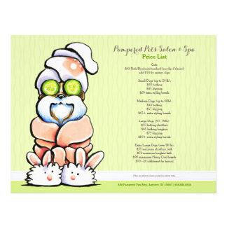 Dog Groomer Spa Shih Tzu Cucumber Price Sheet