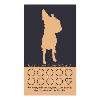 Dog Grooming Business Card Loyalty Card