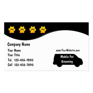 1000 dog grooming business cards and dog grooming