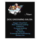 Dog grooming business personalised flyer