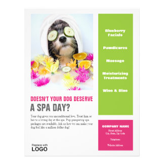Dog Grooming Flyer-Spa 21.5 Cm X 28 Cm Flyer