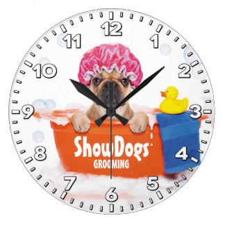 Dog Grooming Salon-Pet Groomer-Personalized Clock