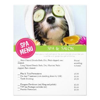 Dog Grooming Spa Services Menu 11.5 Cm X 14 Cm Flyer